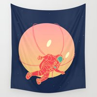 astronaut Wall Tapestries featuring Astronaut by chyworks