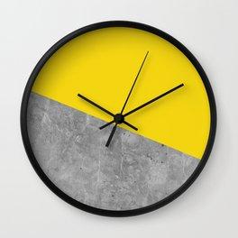 Geometry 101 Vivid Yellow Wall Clock
