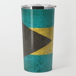 Old and Worn Distressed Vintage Flag of Bahamas Travel Mug