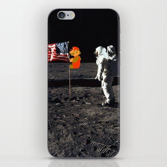 Super Mario on the Moon iPhone & iPod Skin