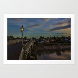Bridge Over The Wye Chepstow Art Print