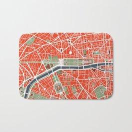 Paris city map classic Bath Mat