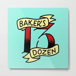 Baker's Dozen Metal Print