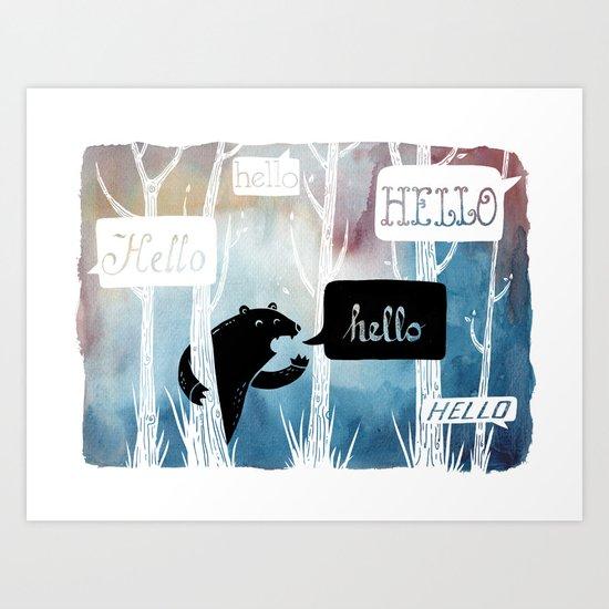 The Echo Art Print