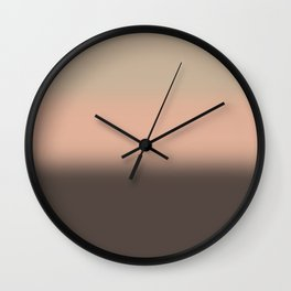 Chocolate strawberry ice cream Wall Clock