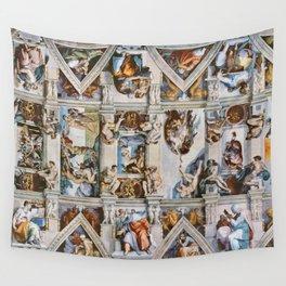 Sistine Chapel Ceiling Michelangelo Wall Tapestry