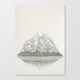 The Mountains and the Woods Canvas Print