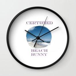 Certified Beach Bunny Wall Clock