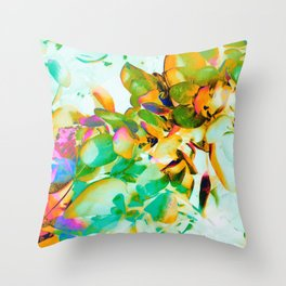 Digital Botanical - Paris Throw Pillow