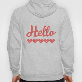 Knitted winter. Sweater. Hoody