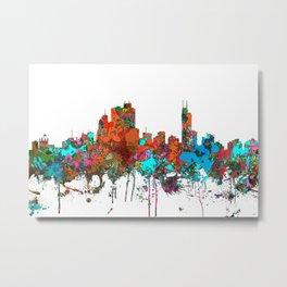 Asuncion, Paraguay Skyline - Confetti Metal Print