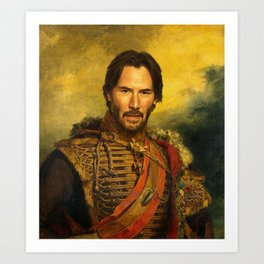 Keanu Reeves - replaceface Art Print