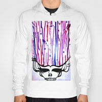 grateful dead Hoodies featuring One of a Kind Grateful Dead Head Painting  by VibrationsArt