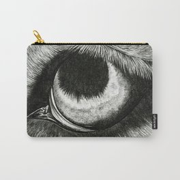 Pencil Drawing - Wolf Eye Carry-All Pouch