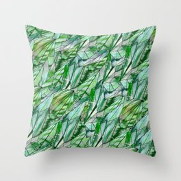 Crystal Emerald Green Gem 1 Throw Pillow