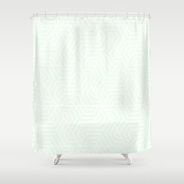 Honeydew - heavenly - Geometric Seamless Triangles Pattern Shower Curtain