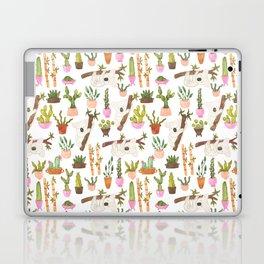 watercolor koala bears hanging out in their cactus succi garden Laptop & iPad Skin