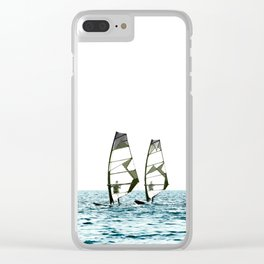 Windsurfing Clear iPhone Case