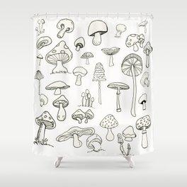 Simply Mushrooms Shower Curtain