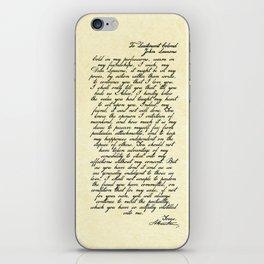 Alexander Hamilton Letter to John Laurens iPhone Skin