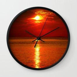 Sunset at Lake Constance Wall Clock