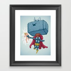 The Mighty Mjolnir Framed Art Print