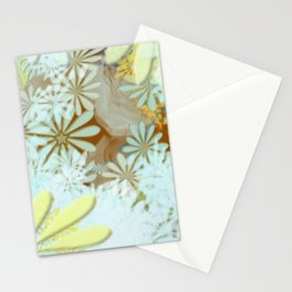 Blue yellow brown  Stationery Cards