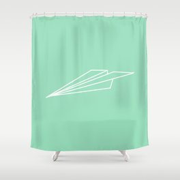 Paper Airplane - You Can Fly - Graphic - Julep (1 of 3) Shower Curtain