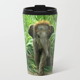 Elephant and Grass Travel Mug