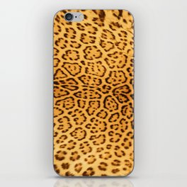 Brown Beige Leopard Animal Print iPhone Skin