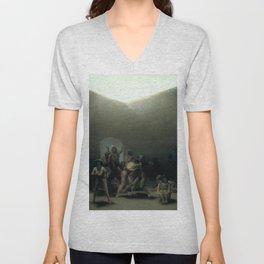 Francisco de Goya - Yard with Lunatics Unisex V-Neck