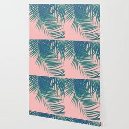 Palm Leaves Blush Summer Vibes #2 #tropical #decor #art #society6 Wallpaper