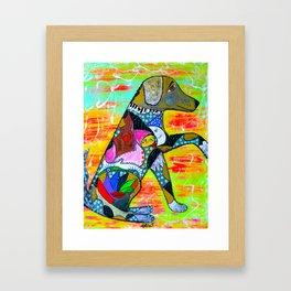 A LOYAL PAW Framed Art Print