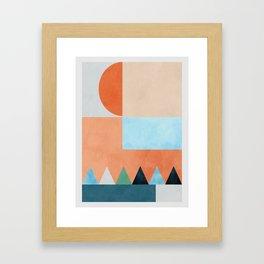 mid century modern composition Framed Art Print