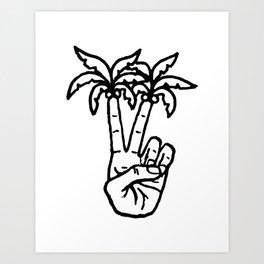 Peace Palms Art Print
