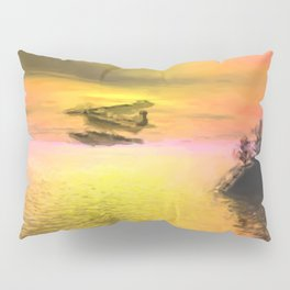 Seaplane Flight at Sunset Pillow Sham