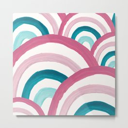 Rainbow Dream Pattern #2 (Kids Collection) #decor #art #society6 Metal Print