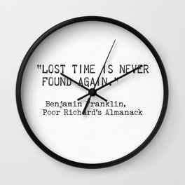 Benjamin Franklin, Poor Richard's Almanack Wall Clock
