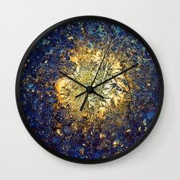 Golden ice Wall Clock