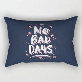 No Bad Days – Navy & Blush Palette Rectangular Pillow