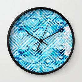 Abstract Liquid Paint Pattern Wall Clock