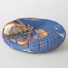 Nicholas Roerich - Guests From Overseas - Digital Remastered Edition Floor Pillow