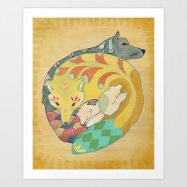 Close-knit Art Print