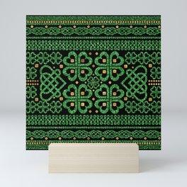 Shamrock Four-leaf Clover Celtic Ornament Mini Art Print