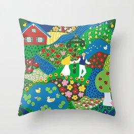 Midsummer Celebration Throw Pillow