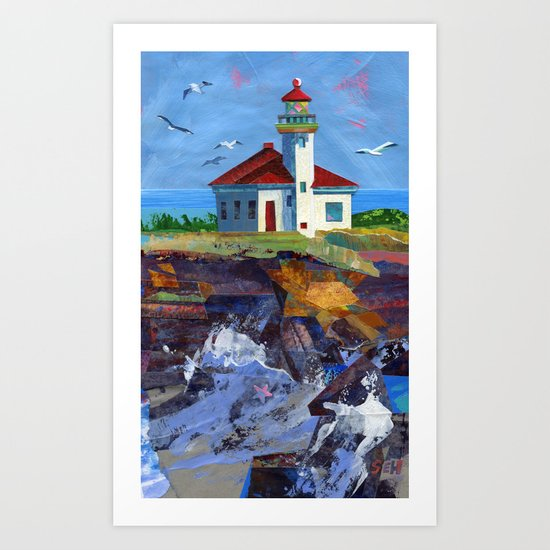 Cape Arago Lighthouse Art Print