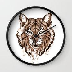 Iberian Lynx: Drifting Wall Clock