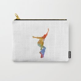 Man skateboard 05 in watercolor Carry-All Pouch