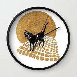 Night Prowler Wall Clock