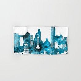 Mexico City Monochrome Blue Skyline Hand & Bath Towel